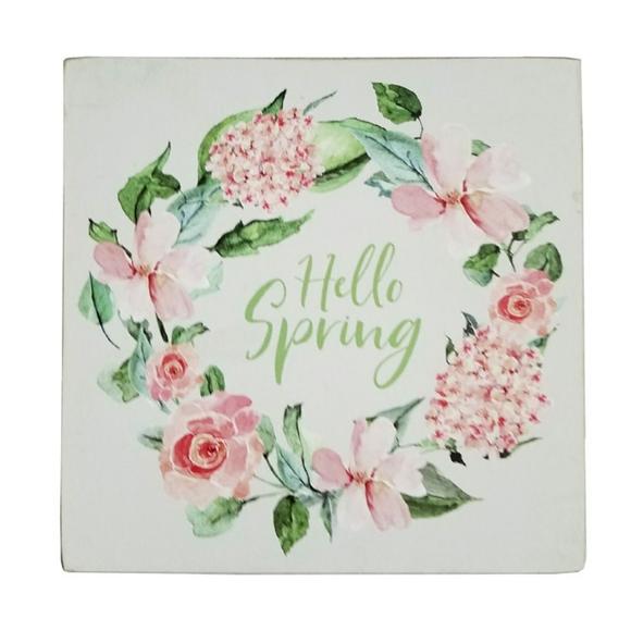 Three Girls & a Wish Other - 🆕Three Girls & a Wish Hello Spring Box Sign